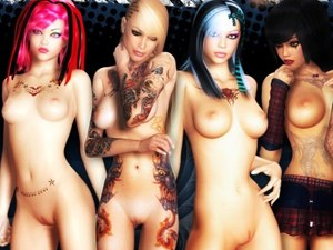 3D Bad Girls +18 naked schoolgirls