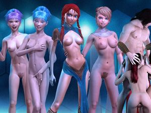 3D Girlz animerade naken sex spel