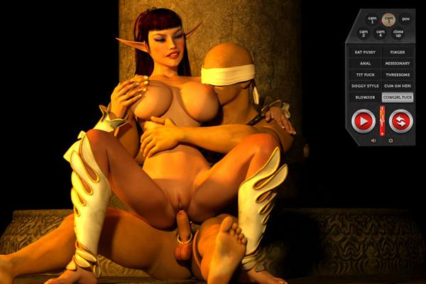 Here we have another 3D gay porn game with interactive