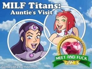 Milf Titans флэш-игра с MILF секс