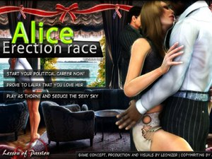 Alice Erection Race opgetrokken cartoon lullen