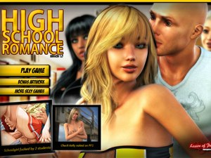 High School Romance sex game with +18 students