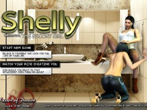 Shelly the escort girl hooker porn game