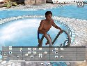 Dark boy in the swimming pool in a gay sex game