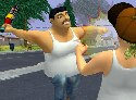 Fat boy fighting in a BoneTown game