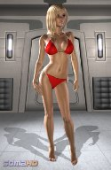 Red bikini virtual girl