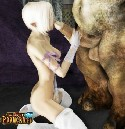 Little barbie and monster penis by World of Porncraft
