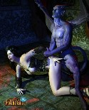 Monster devil fucks her World of Porncraft slave