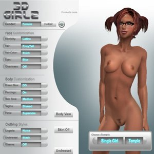 Virtual sex games with virtual fuck and 3d girls